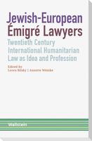 Jewish-European Émigré Lawyers