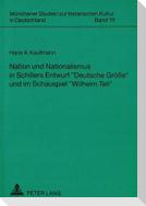 Nation und Nationalismus in Schillers Entwurf «Deutsche Größe» und im Schauspiel «Wilhelm Tell»