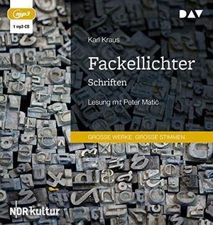 Kraus, Karl. Fackellichter. Schriften - Lesung mit