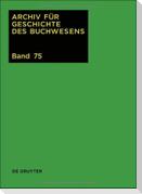 Archiv für Geschichte des Buchwesens / 2020