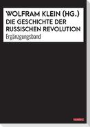 Die Geschichte der Russischen Revolution. Ergänzungsband