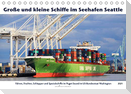 Große und kleine Schiffe im Seehafen Seattle (Tischkalender 2021 DIN A5 quer)
