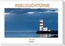 Inselleuchttürme Island (Wandkalender 2022 DIN A3 quer)