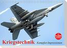 Kriegstechnik. Kampfjet-Impressionen (Tischkalender 2022 DIN A5 quer)
