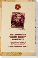 """Marx and Engels's """"german Ideology"""" Manuscripts: Presentation and Analysis of the """"feuerbach Chapter"""""""