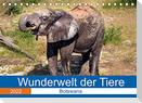 Wunderwelt der Tiere - Botswana (Tischkalender 2022 DIN A5 quer)