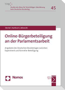 Online-Bürgerbeteiligung an der Parlamentsarbeit
