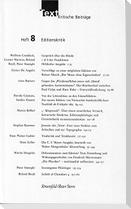 Text. Kritische Beiträge / Editionskritik