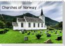 Churches of Norway (Wall Calendar 2021 DIN A4 Landscape)