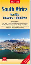 Nelles Map Landkarte South Africa : South Africa, Namibia, Botswana, Zimbabwe, Südafrika,  Afrique du Sud, África del Sur 1 : 2 500 000