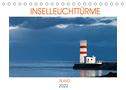 Inselleuchttürme Island (Tischkalender 2022 DIN A5 quer)