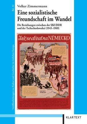 Volker Zimmermann. Eine sozialistische Freundschaft im Wandel - Die Beziehungen zwischen der SBZ/DDR und der Tschechoslowakei (1945–1969). Klartext, 2010.