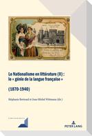 Le Nationalisme en littérature (II)