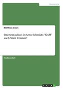 """Intertextualität in Arno Schmidts """"KAFF auch Mare Crisium"""""""