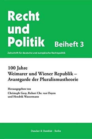 Christoph Gusy / Robert Chr. van Ooyen / Hendrik W