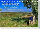 Jakobsweg - pilgern auf dem Camino de Santiago (Tischkalender 2022 DIN A5 quer)