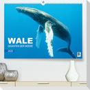 Wale: Giganten der Meere (Premium, hochwertiger DIN A2 Wandkalender 2022, Kunstdruck in Hochglanz)