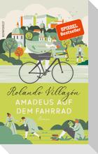 Amadeus auf dem Fahrrad