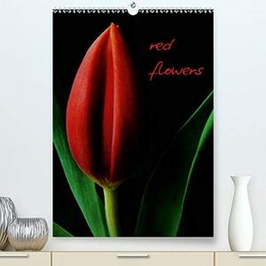 Otto, Anja. red flowers (Premium, hochwertiger DIN