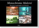 Monochrome Malerei - Mystische Landschaften mit Gouache (Wandkalender 2022 DIN A2 quer)