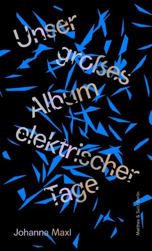 Johanna Maxl. Unser großes Album elektrischer Tage. Matthes & Seitz Berlin, 2018.