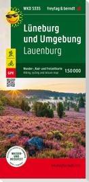 Lüneburg und Umgebung, Lauenburg, Wander + Radkarte 1:50.000