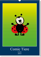 Kuschlige Comic Tiere (Wandkalender 2021 DIN A3 hoch)