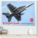 Kriegstechnik. Kampfjet-Impressionen (Premium, hochwertiger DIN A2 Wandkalender 2022, Kunstdruck in Hochglanz)