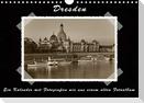 Dresden - Ein Kalender mit Fotografien wie aus einem alten Fotoalbum (Wandkalender 2021 DIN A4 quer)