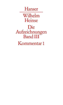 Aufzeichnungen 1768-1783. Kommentar zu Band 1