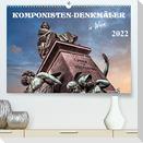 Komponisten-Denkmäler in Wien (Premium, hochwertiger DIN A2 Wandkalender 2022, Kunstdruck in Hochglanz)