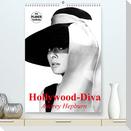 Hollywood-Diva. Audrey Hepburn (Premium, hochwertiger DIN A2 Wandkalender 2022, Kunstdruck in Hochglanz)