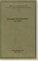 Der jüngste Reichsabschied von 1654