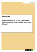 Elektromobilität in Deutschland. Ist die Elektromobilität wirklich eine nachhaltige Lösung?