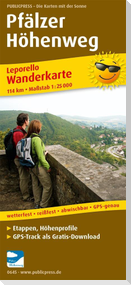 Pfälzer Höhenweg 1 : 25 000 Wanderkarte