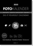 Foto-Bastelkalender schwarz 2022 - Do it yourself calendar A4