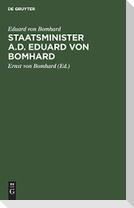 Staatsminister a.D. Eduard von Bomhard