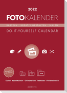 Foto-Bastelkalender rot 2022 - Do it yourself calendar A4