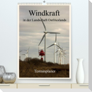Windkraft in der Landschaft Ostfrieslands / Terminplaner (Premium, hochwertiger DIN A2 Wandkalender 2022, Kunstdruck in Hochglanz)