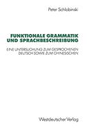 Funktionale Grammatik und Sprachbeschreibung