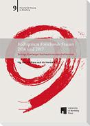 Kolloquium Forschende Frauen 2016 und 2017