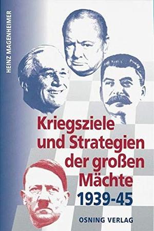 Magenheimer, Heinz. Kriegsziele und Strategien der