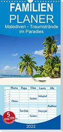 Malediven - Traumstrände im Paradies - Familienplaner hoch (Wandkalender 2022 , 21 cm x 45 cm, hoch)