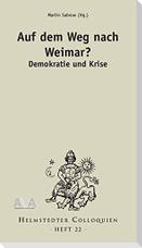 Auf dem Weg nach Weimar? Demokratie und Krise