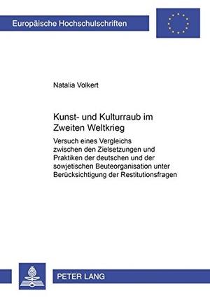 Volkert, Natalia. Kunst- und Kulturraub im Zweiten