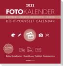 Foto-Bastelkalender rot 2022 - Do it yourself calendar 21x22 cm