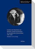 Lexikon der Studenten aus Estland, Livland und Kurland an europäischen Universitäten 1561-1800. Bearbeitet von Arvo Tering