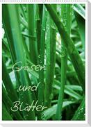 Gräser und Blätter (Wandkalender 2021 DIN A2 hoch)