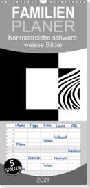 Kontrastreiche schwarz-weisse Bilder - Familienplaner hoch (Wandkalender 2021 , 21 cm x 45 cm, hoch)
