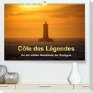 Côte des Légendes  An der wilden Westküste der Bretagne (Premium, hochwertiger DIN A2 Wandkalender 2022, Kunstdruck in Hochglanz)